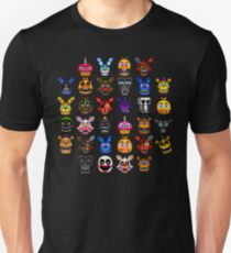 NEW - FNAF Multiple Animatronics - (Dec 2016) - Pixel art Unisex T-Shirt