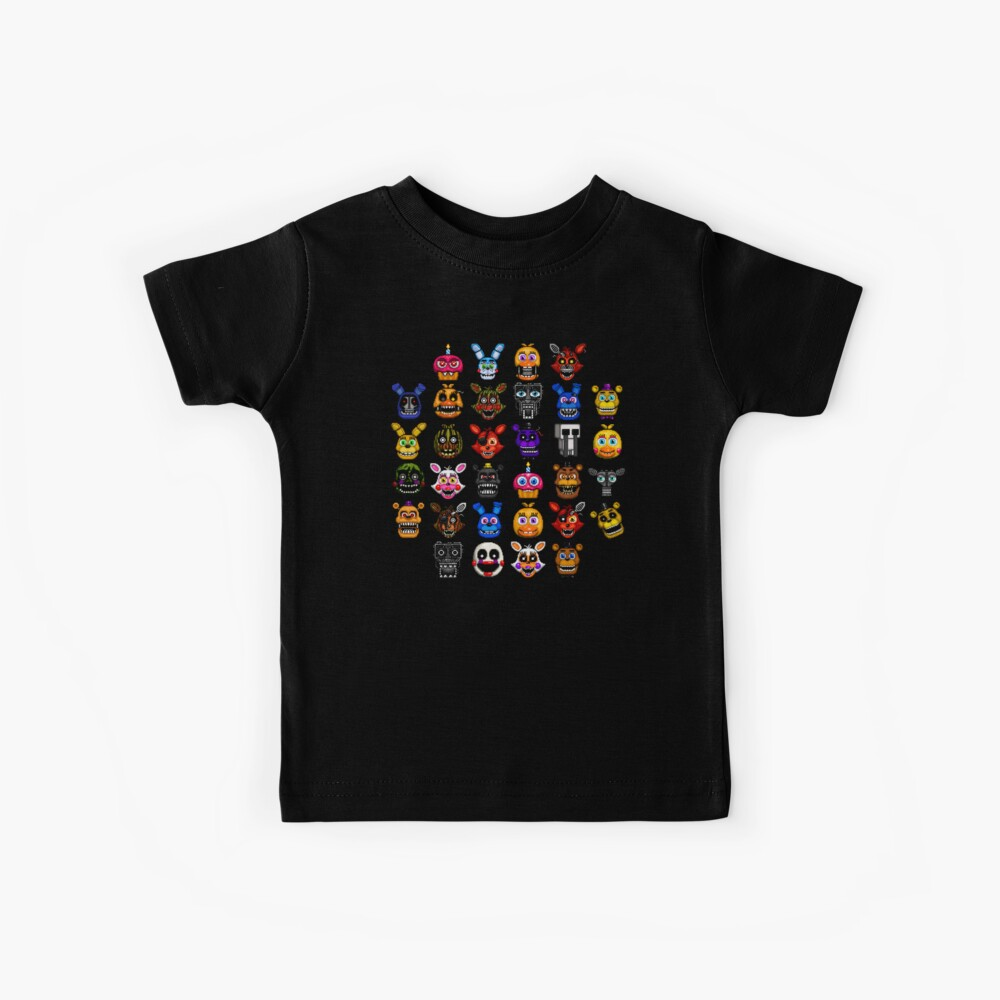 NEU - FNAF Multiple Animatronics - (Dez 2016) - Pixel art Kinder T-Shirt