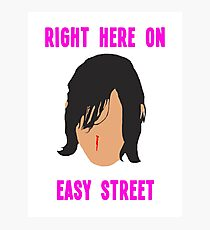 Daryl on Easy Street Photographic Print