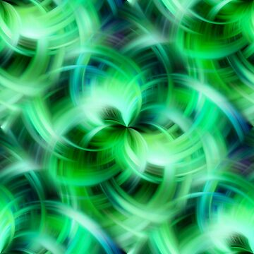 Vibrant Shades Of Green Swirls Abstract by SmilinEyes
