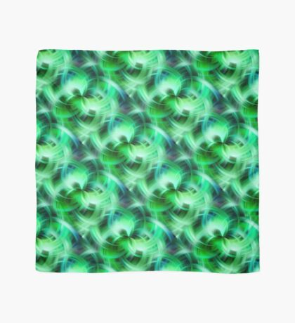 Vibrant Shades Of Green Swirls Abstract Scarf