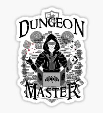 Dungeon Master - Black Sticker