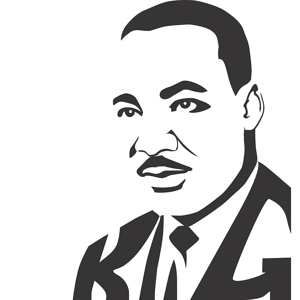 Martin Luther King Jr.  with hidden word KING by g-shrtz