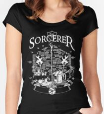 RPG Class Series: Sorcerer - White Version Women's Fitted Scoop T-Shirt