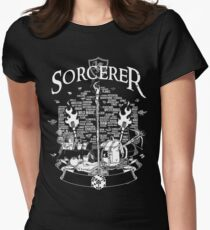 RPG Class Series: Sorcerer - White Version Women's Fitted T-Shirt