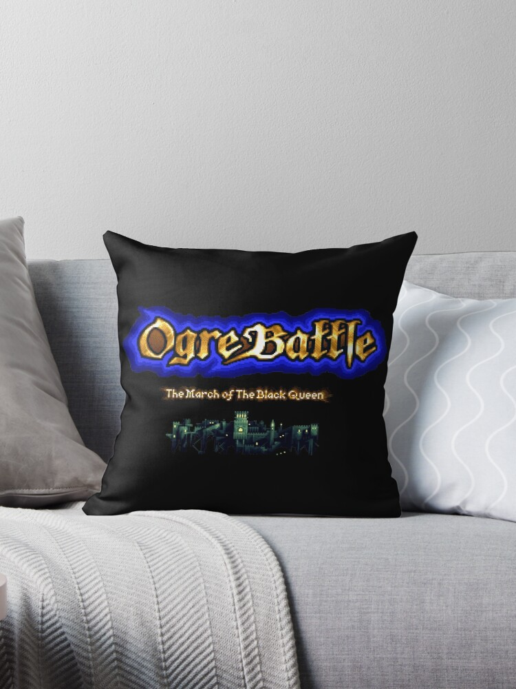 'Ogre Battle The March of the Black Queen (SNES Title Screen)' Throw Pillow  by winscometjump