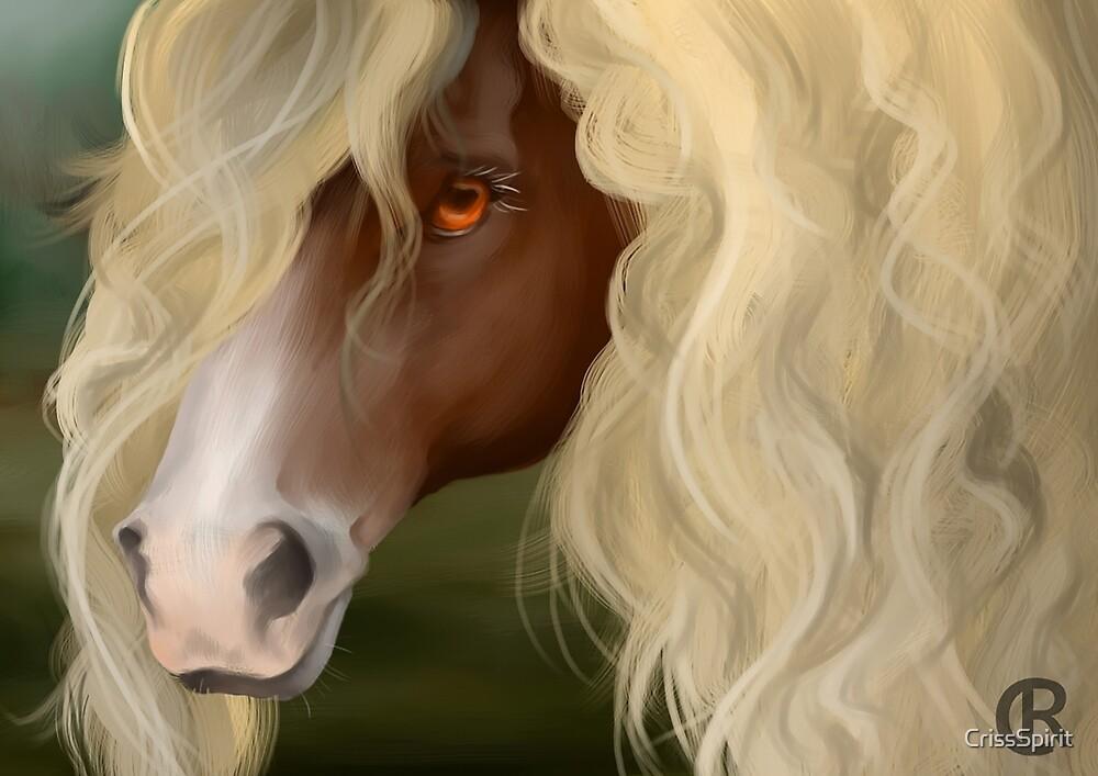 Digital Horse Painting by CrissSpirit