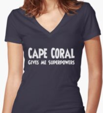 Cape Coral Superpowers T-shirt Women's Fitted V-Neck T-Shirt