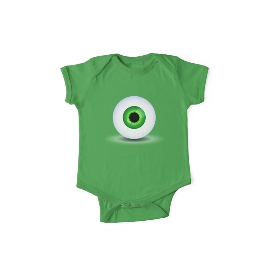 Green Eyeball by SolarSnowdoll