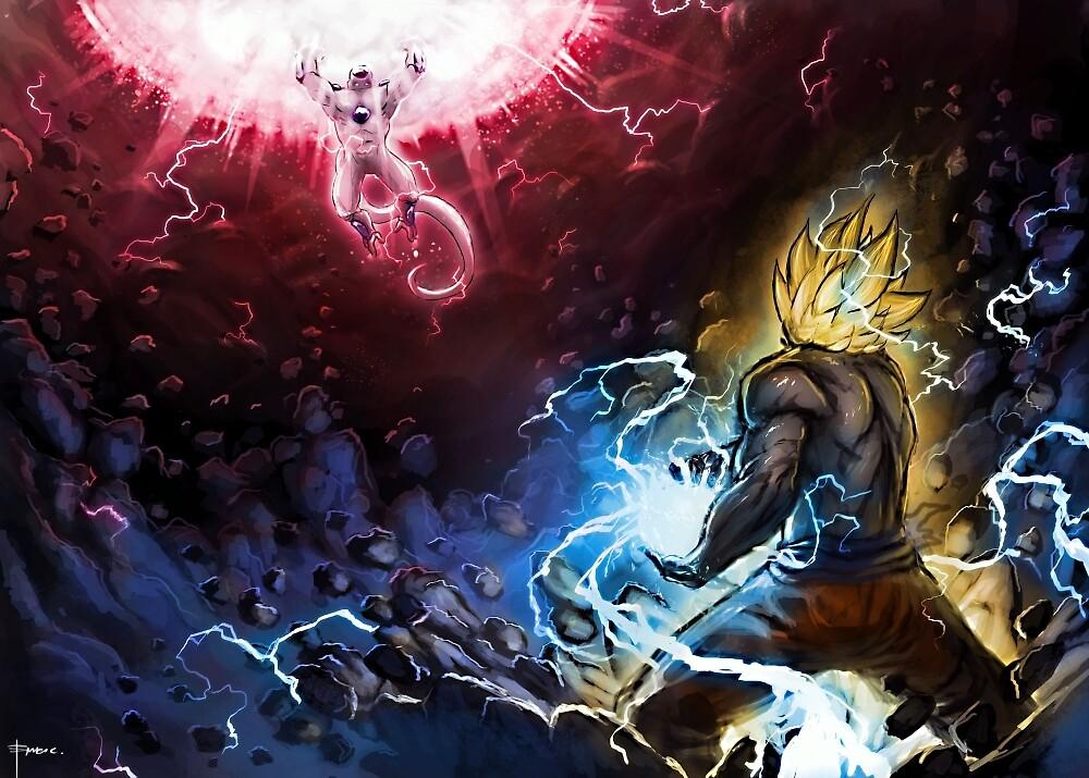 Goku VS Frieza by DragonBallFanz