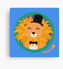 Lion groom with cylinder Canvas Print