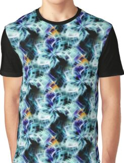 Swirling Shades Of Blue Abstract Graphic T-Shirt