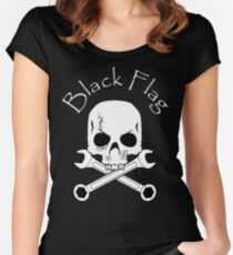Black Flag Women's Fitted Scoop T-Shirt