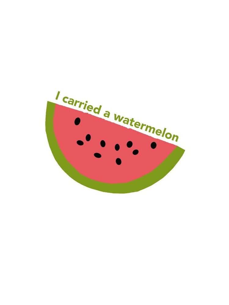 I carried a watermelon - dirty dancing by -gallifreya-