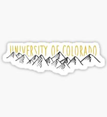 CU Boulder Mountains Sticker