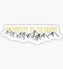 CU Boulder Mountains Sticker