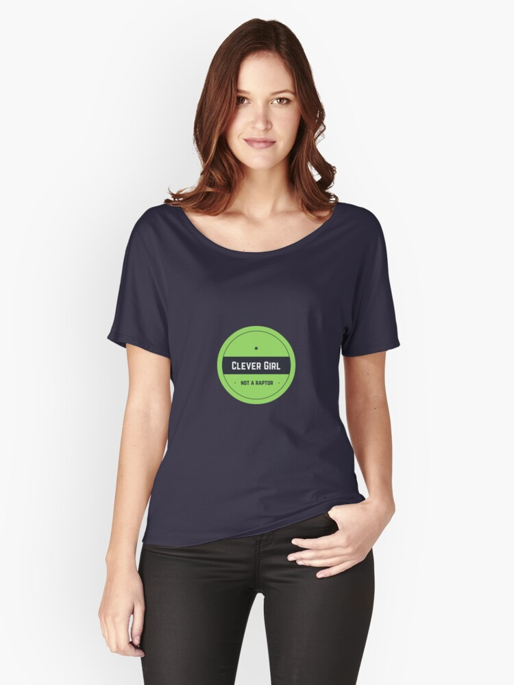 Clever Girl - in green Women's Relaxed Fit T-Shirt Front