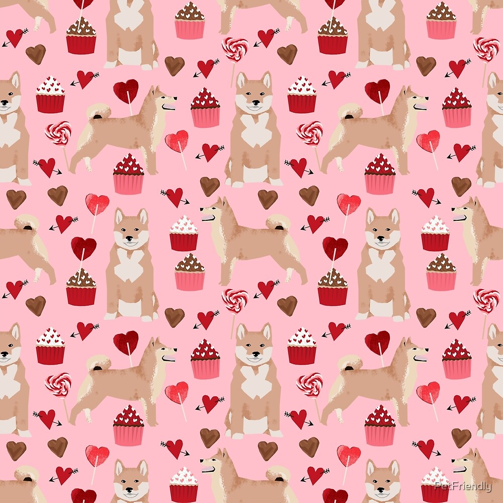 Shiba Inu valentines day love pet dog lover unique dog breeds pet portraits custom designs by PetFriendly by PetFriendly