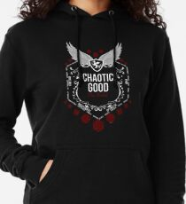 Chaotic Good - Black: Alignment Series Lightweight Hoodie