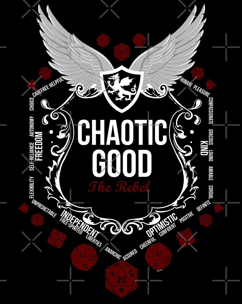 Chaotic Good - Black: Alignment Series by Milmino
