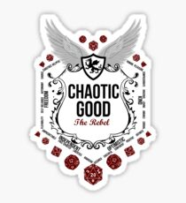 Chaotic Good - Black: Alignment Series Sticker