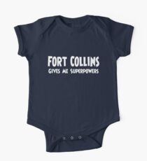 Fort Collins Superpowers T-shirt Short Sleeve Baby One-Piece