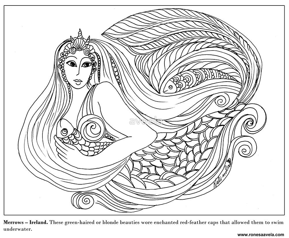 Merrow - Irish #Mermaid by aveela