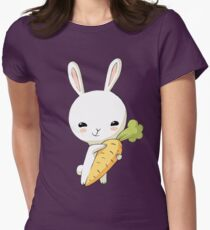 Bunny Carrot 2 Womens Fitted T-Shirt