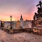 Sunrise @ Charles Bridge `Prague by Kevin Cotterell