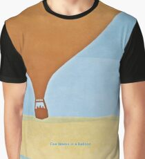 Five Weeks in a Balloon - Jules Verne Graphic T-Shirt