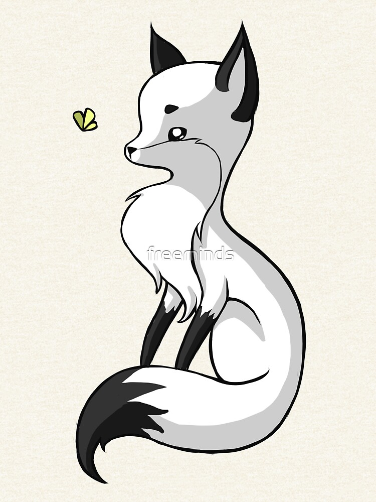 Fox and a Butterfly von freeminds