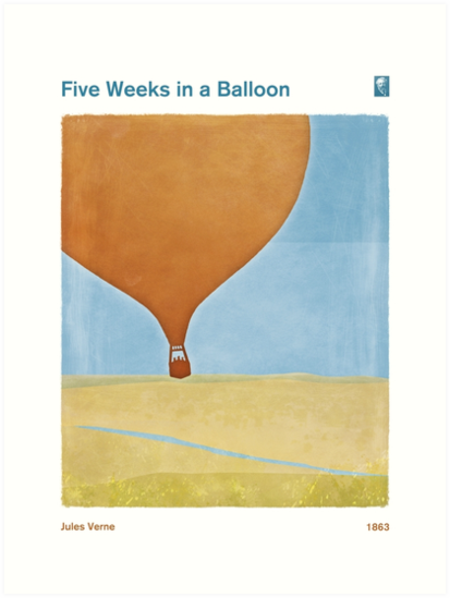 Five Weeks in a Balloon - Jules Verne by RedHillPrints