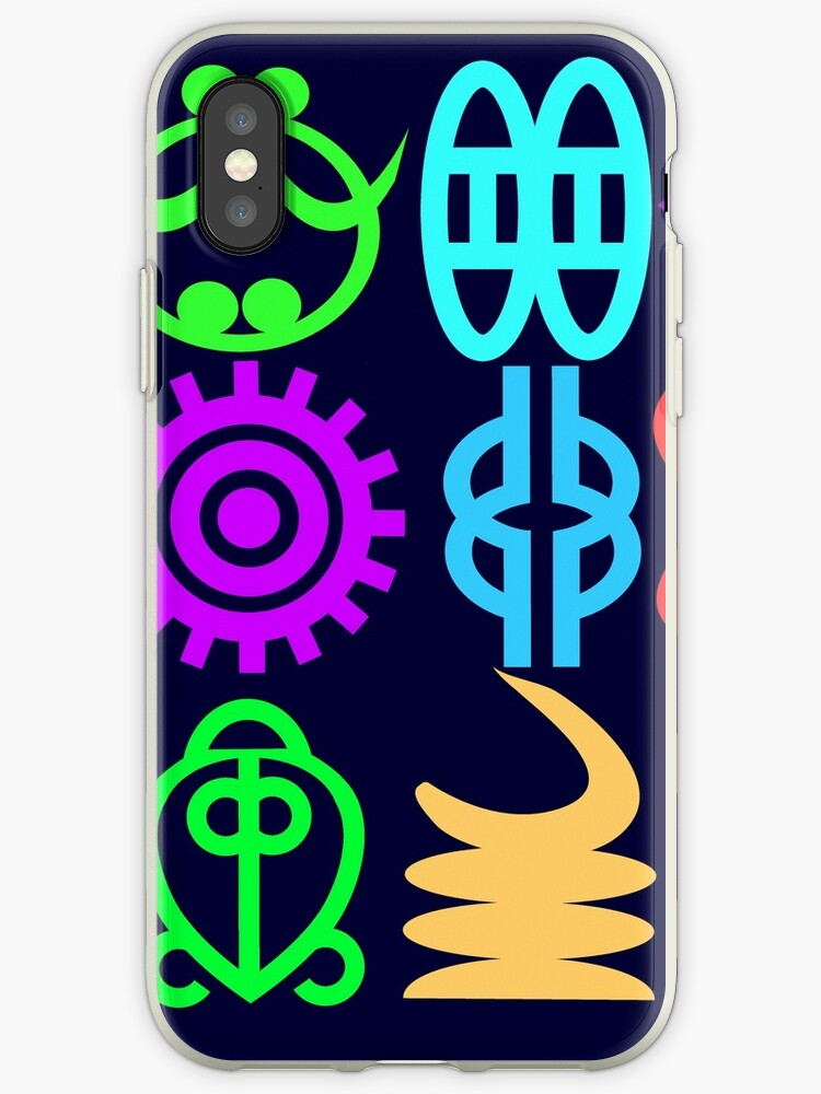 Adinkra Symbols And Meanings From Africa Ghana Iphone Cases