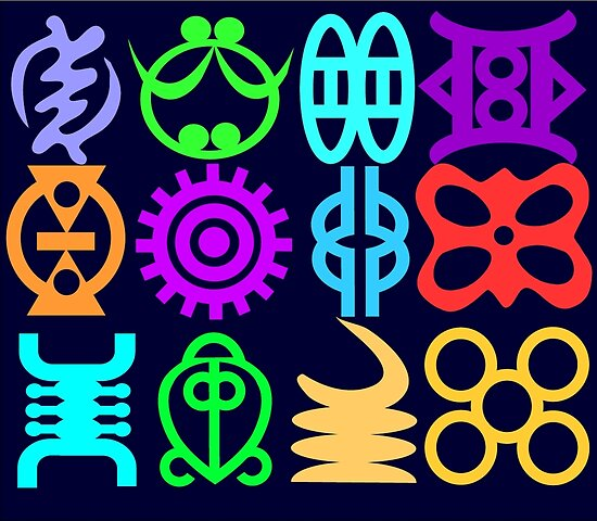 Adinkra Symbols And Meanings From Africa Ghana Posters By Emanni