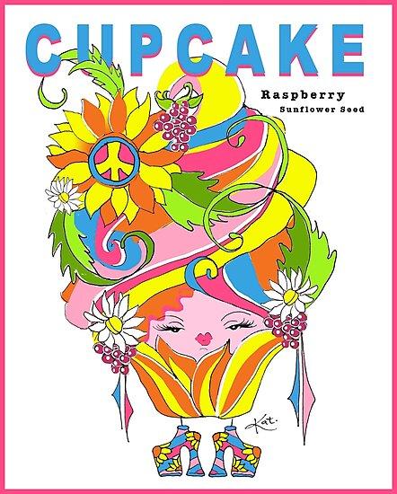 CUPCAKE : Raspberry Sunflower Seed by katreece