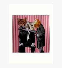 Gangster Cats Art Print