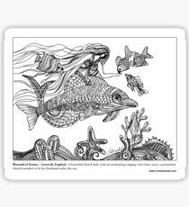 #Mermaid of Zennor – Cornwall, England Sticker