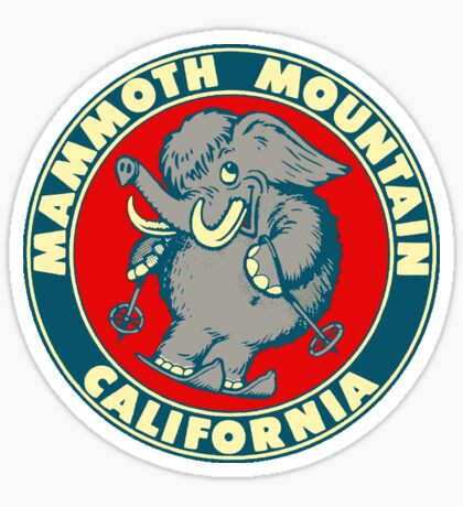 Mammoth Mountain California Skiing Vintage Travel Decal Sticker