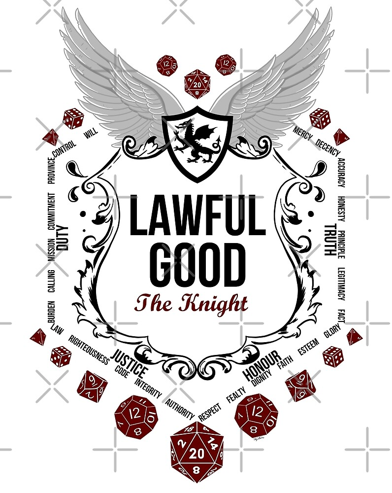 Lawful Good - Black: Alignment Series by Milmino