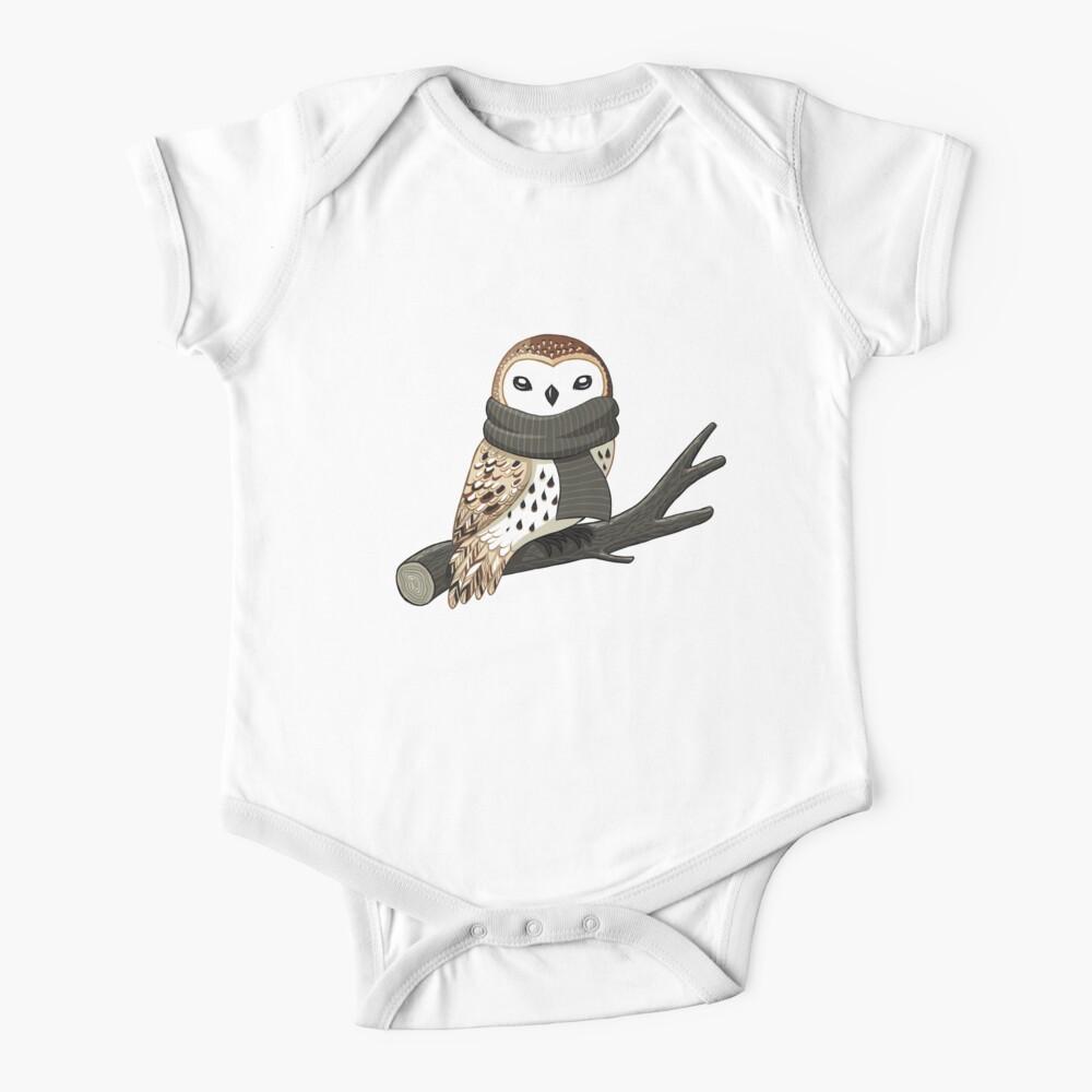 Winter Owl Baby One-Piece