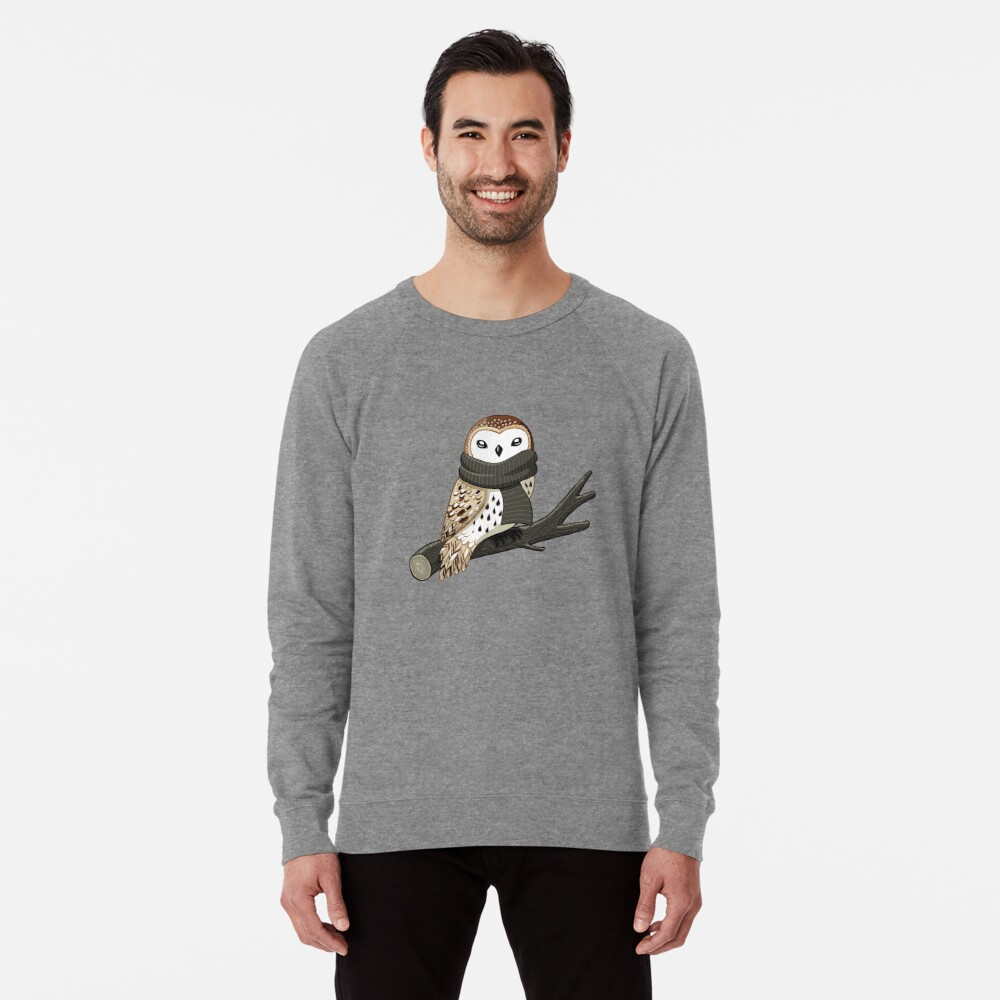 Winter Owl Lightweight Sweatshirt