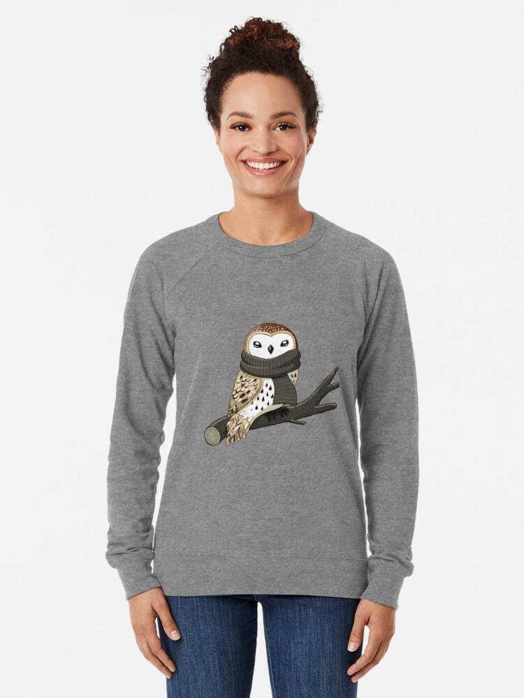 Alternate view of Winter Owl Lightweight Sweatshirt