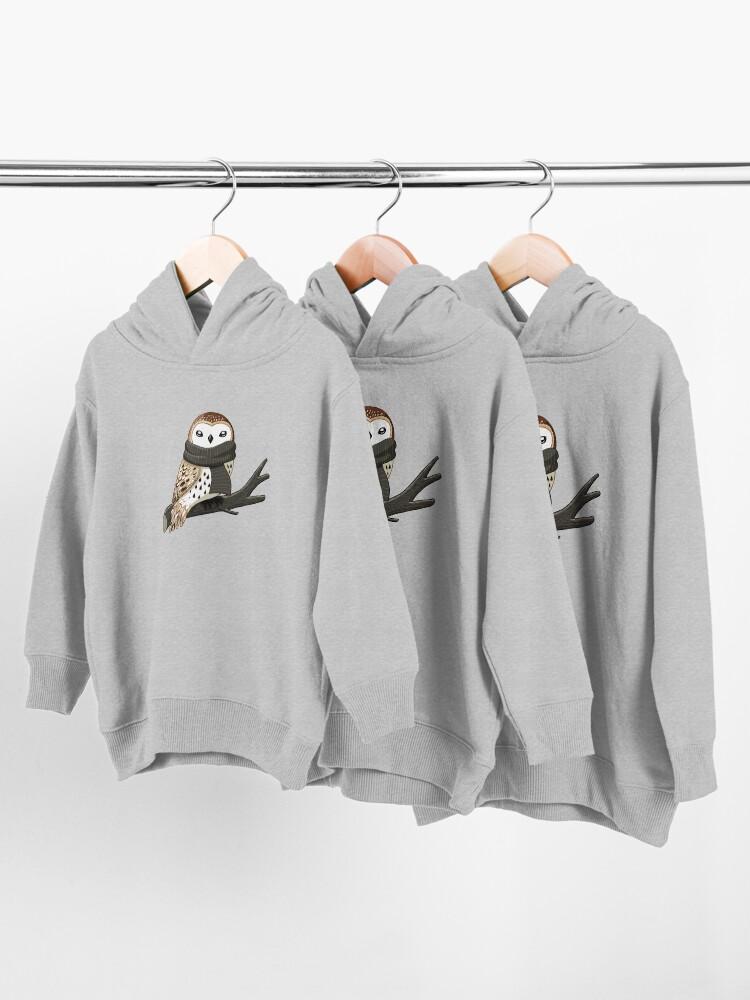 Alternate view of Winter Owl Toddler Pullover Hoodie