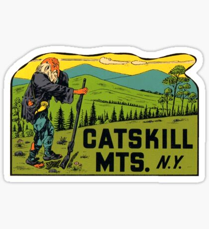 Catskill Mountains New York Vintage Travel Decal Sticker