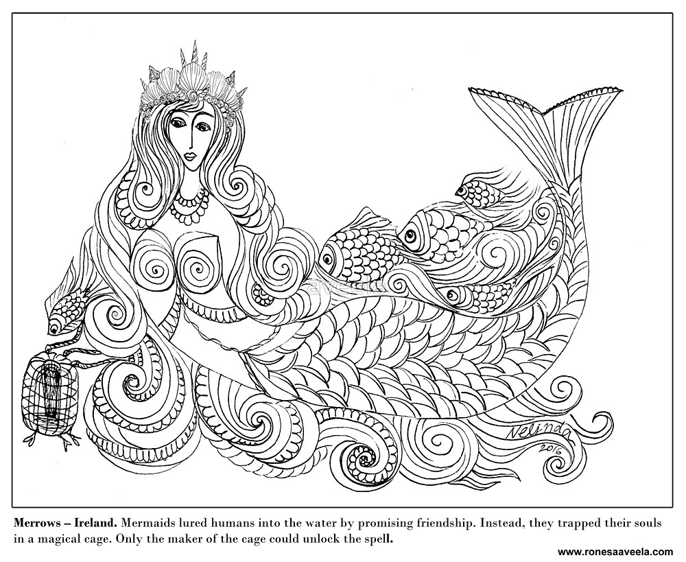 Merrow - Irish #Mermaid by aveela