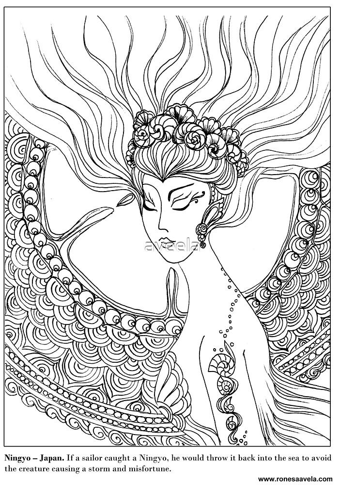 Ningyo – Japanese #Mermaid by aveela