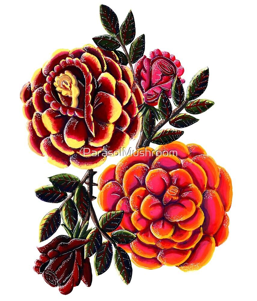 Colorful Roses by ParasolMushroom