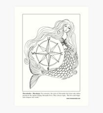 Thessalonike – Macedonian #Mermaid Art Print