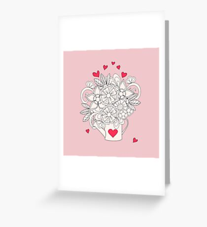 bouquet with love Greeting Card