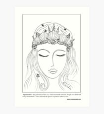 #Mermaid Crown Art Print